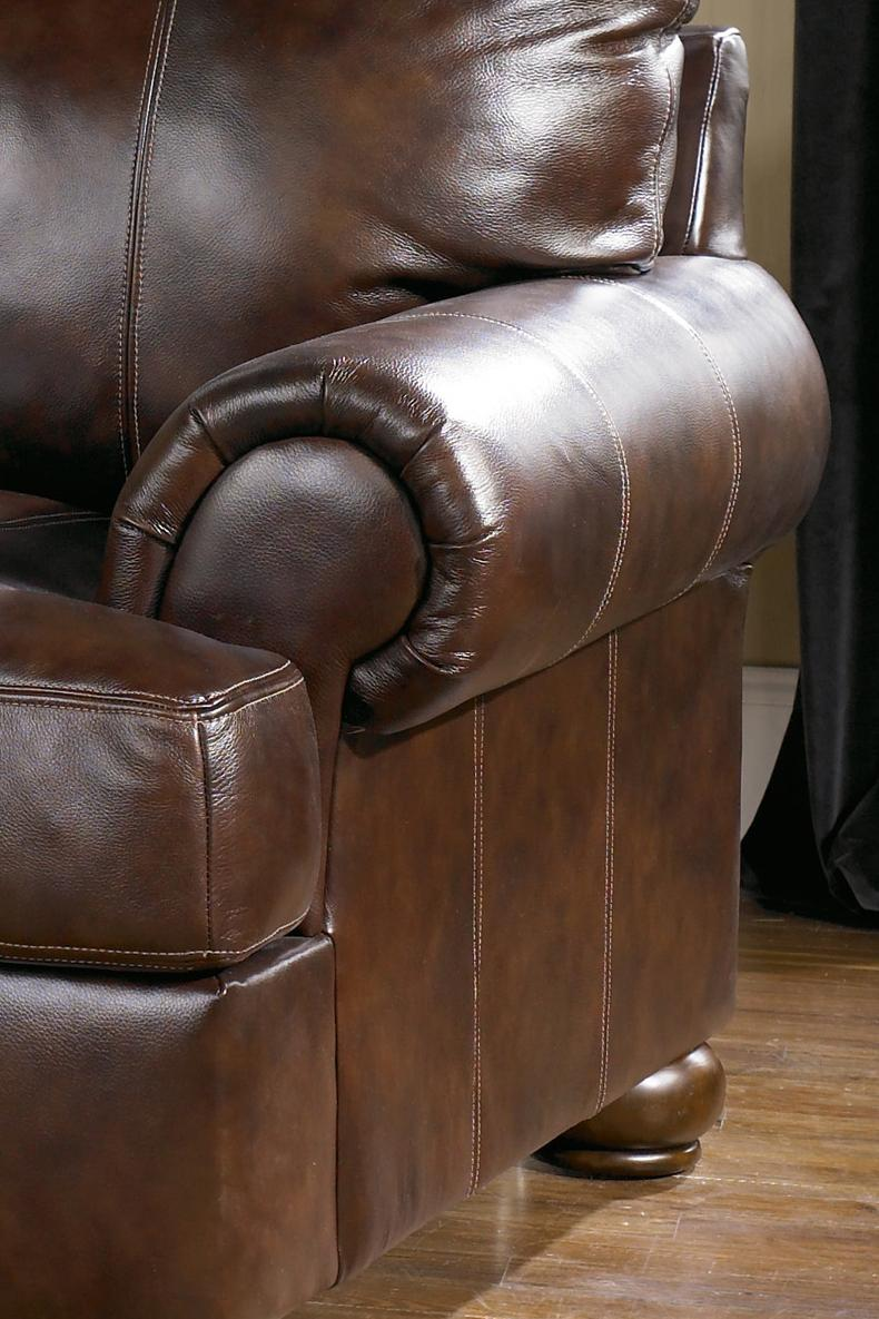 Ashley Leather Sofa Living Rooms With Dark Brown Leather Couches