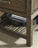 Slatted Bottom Shelf on Nightstand and Chest of Drawers for Extra Storage