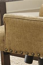 Textured Fabric Complemented by Nailhead Trim