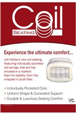 Coil Seating Built Into Seat Cushions for Support and Durability