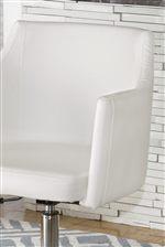 Modern White PVC Office Chair