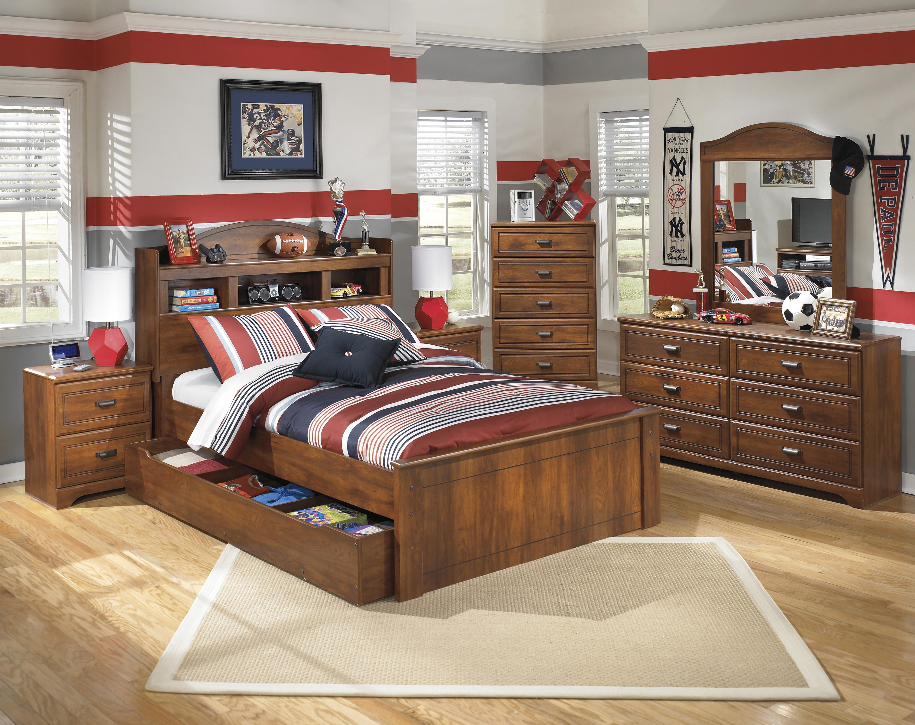 Signature Design by Ashley Barchan Full Bedroom Group - Item Number: B228 F Bedroom Group 6