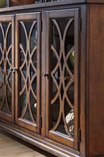 Glass Doors with Wood Grille on Server