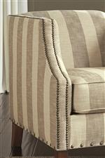 Club Style Accent Chair with Nailhead Trim