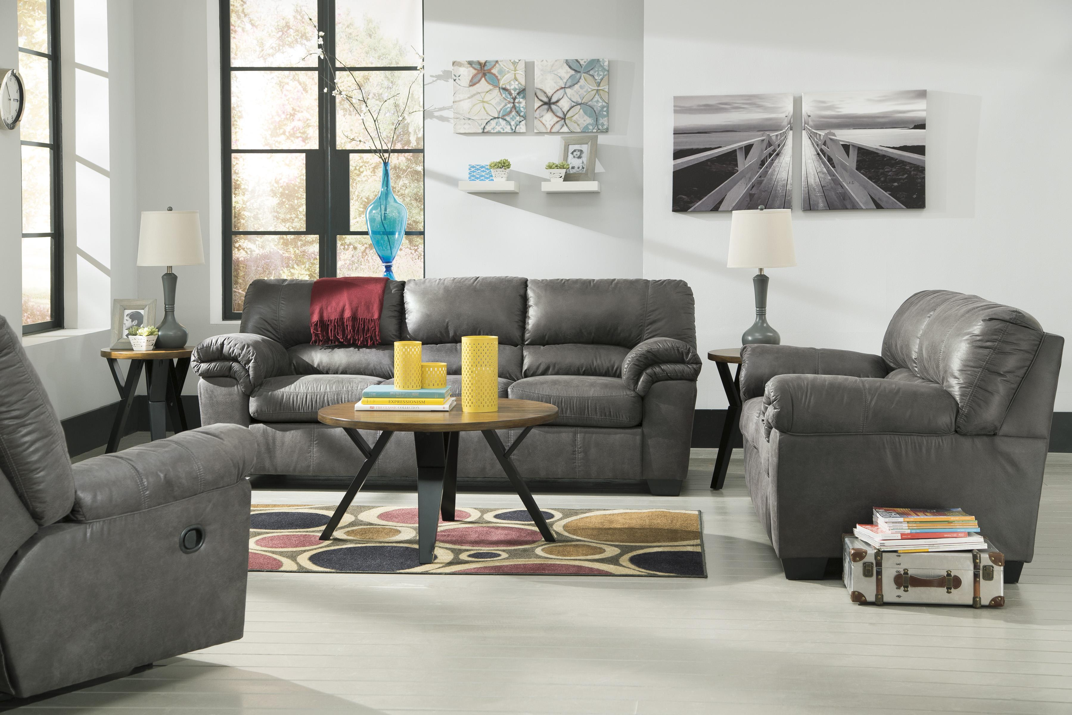 Signature Design by Ashley Bladen Two-Piece Faux Leather Sectional ...