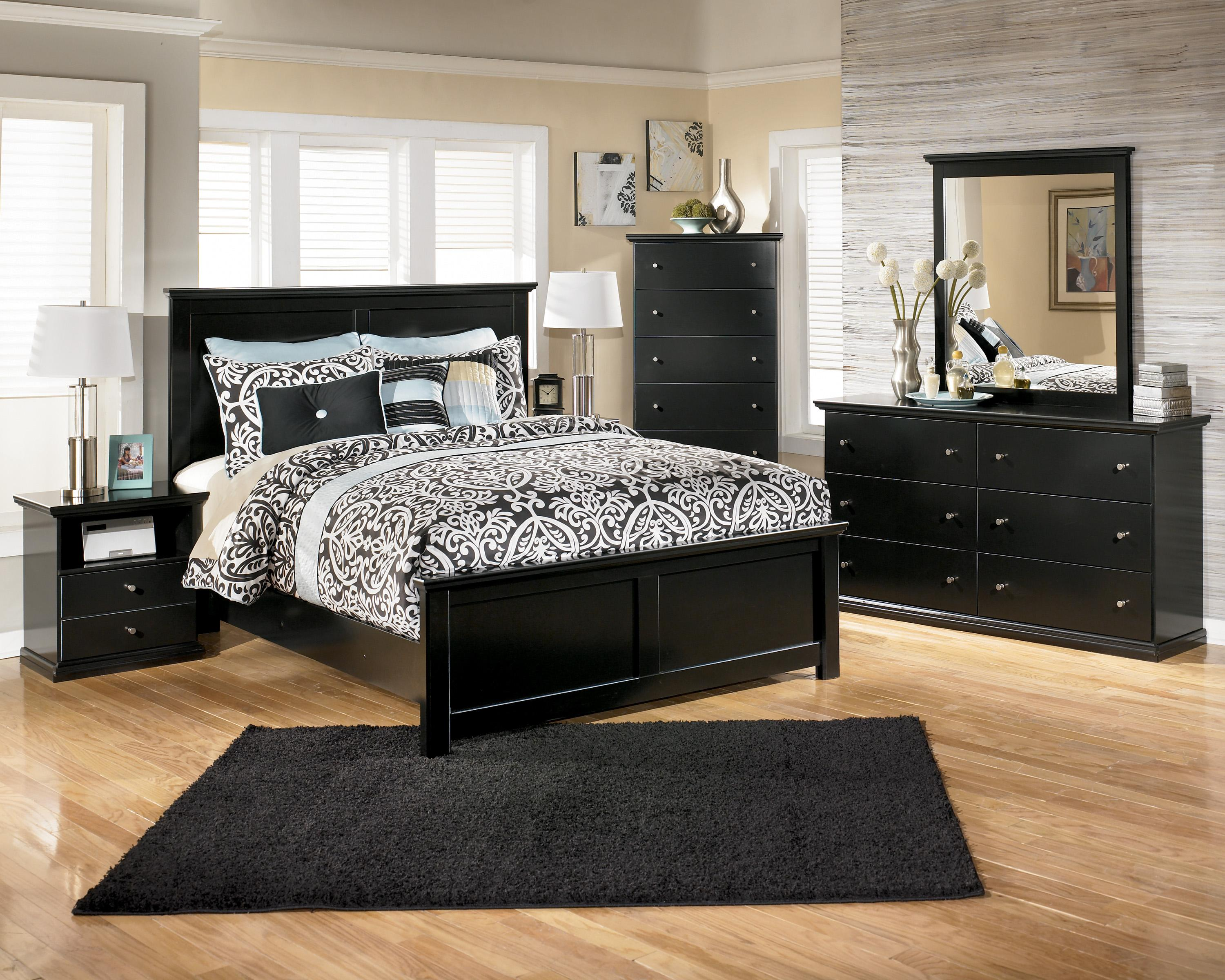 Maribel 3 pc bedroom dresser mirror amp queen full panel headboard - Maribel By Signature Design By Ashley