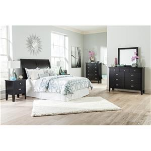 Signature Design by Ashley Braflin Queen Storage Bed with Sleigh Headboard