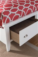 Footboard Drawers on Storage Bed