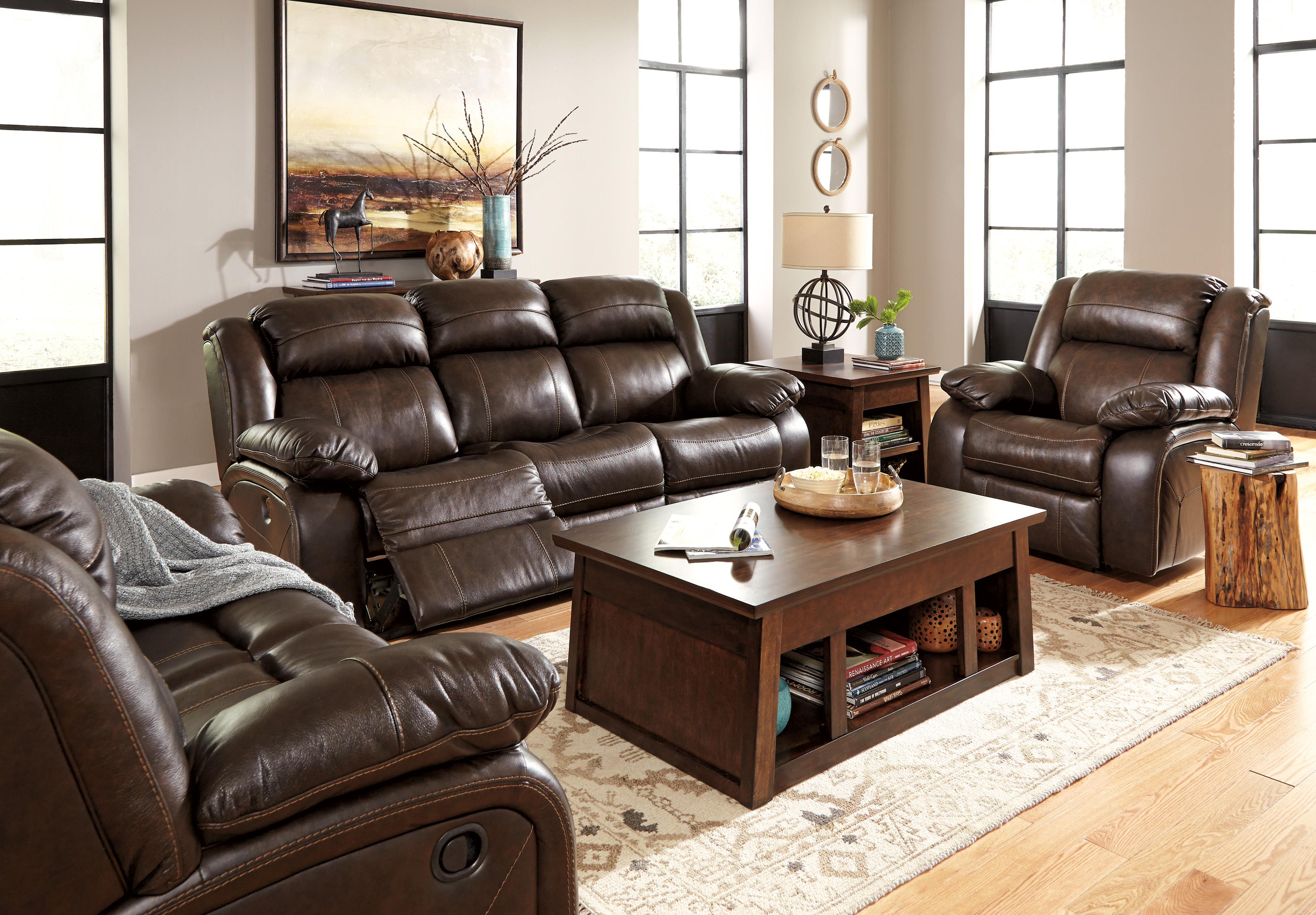 Leather Reclining Living Room Sets Signature Design By Ashley Furniture Branton Leather Match