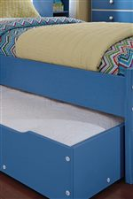 Optional Under Bed Unit Used As Trundle with Extra Mattress