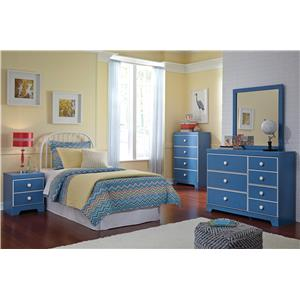 Signature Design by Ashley Bronilly Twin Panel Bed with Trundle Under Bed Storage