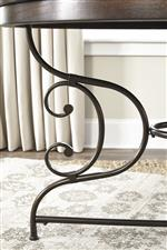 Scrolled Metal Accents Provide Transitional Detail