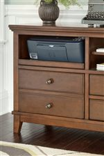 Pull-Out Tray on Home Office Cabinet