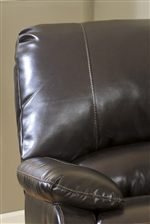 Sleek Low Pillow Arms, Divided Backs, and Jumbo Accent Stitching