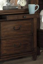 Pull Out Tray Shelf on Night Stand