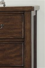 Solid Wood Top Edges on Storage Pieces
