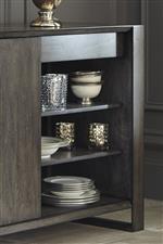 Sliding Doors Reveal Adjustable Shelves for Added Convenience