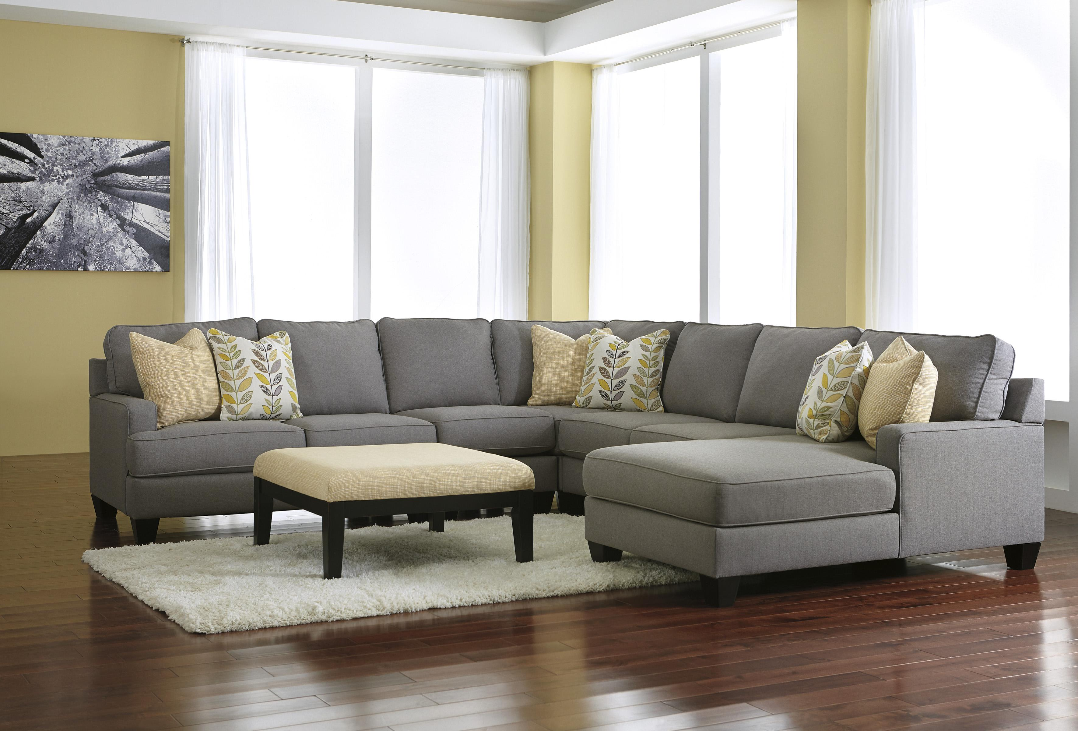 Burgis Design Chamberly Alloy Modern 4 Piece Sectional Sofa with