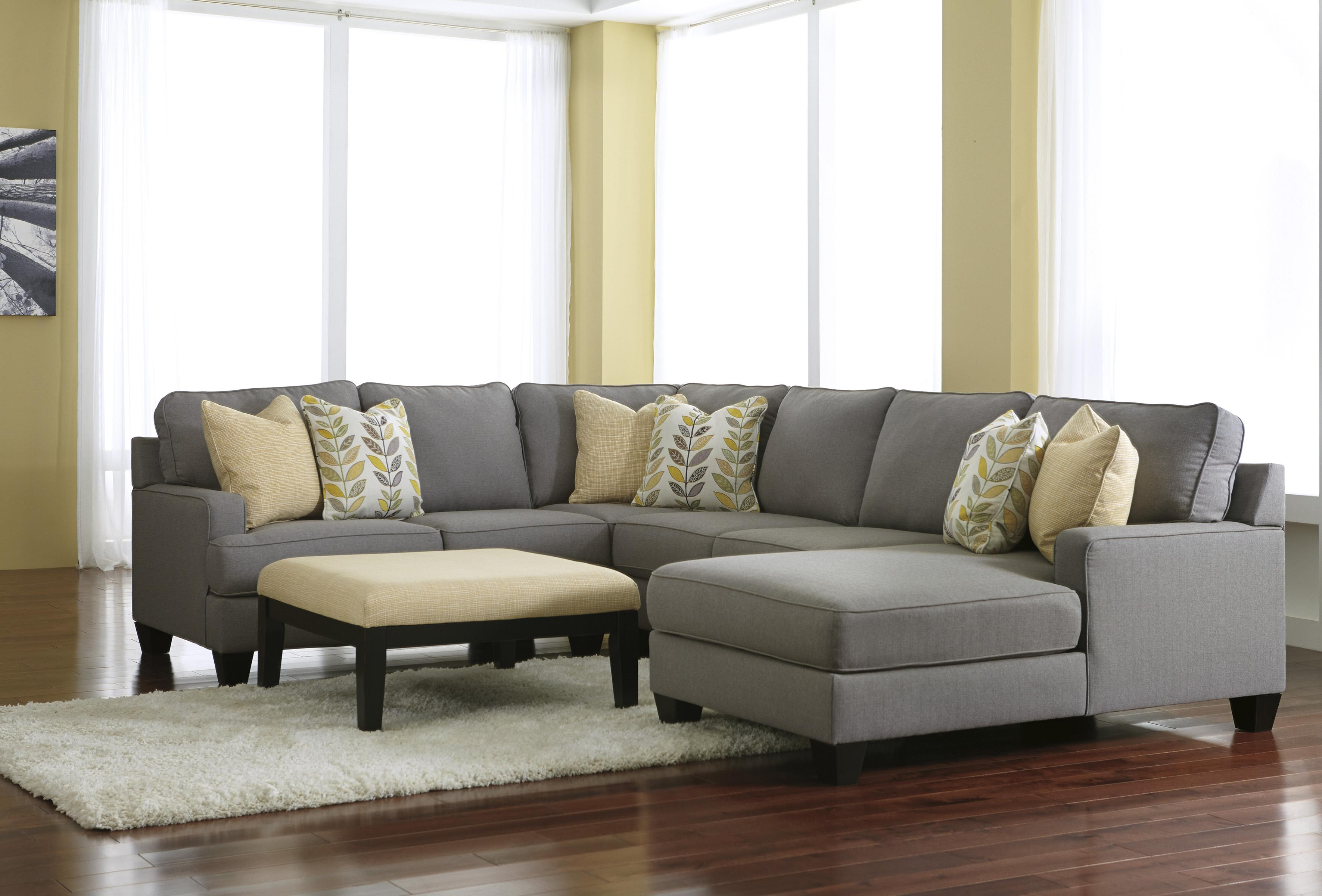 Signature Design By Ashley Chamberly   Alloy Modern 4 Piece Sectional Sofa  With Right Chaise U0026 Reversible Seat Cushions | Godby Home Furnishings |  Sectional ...