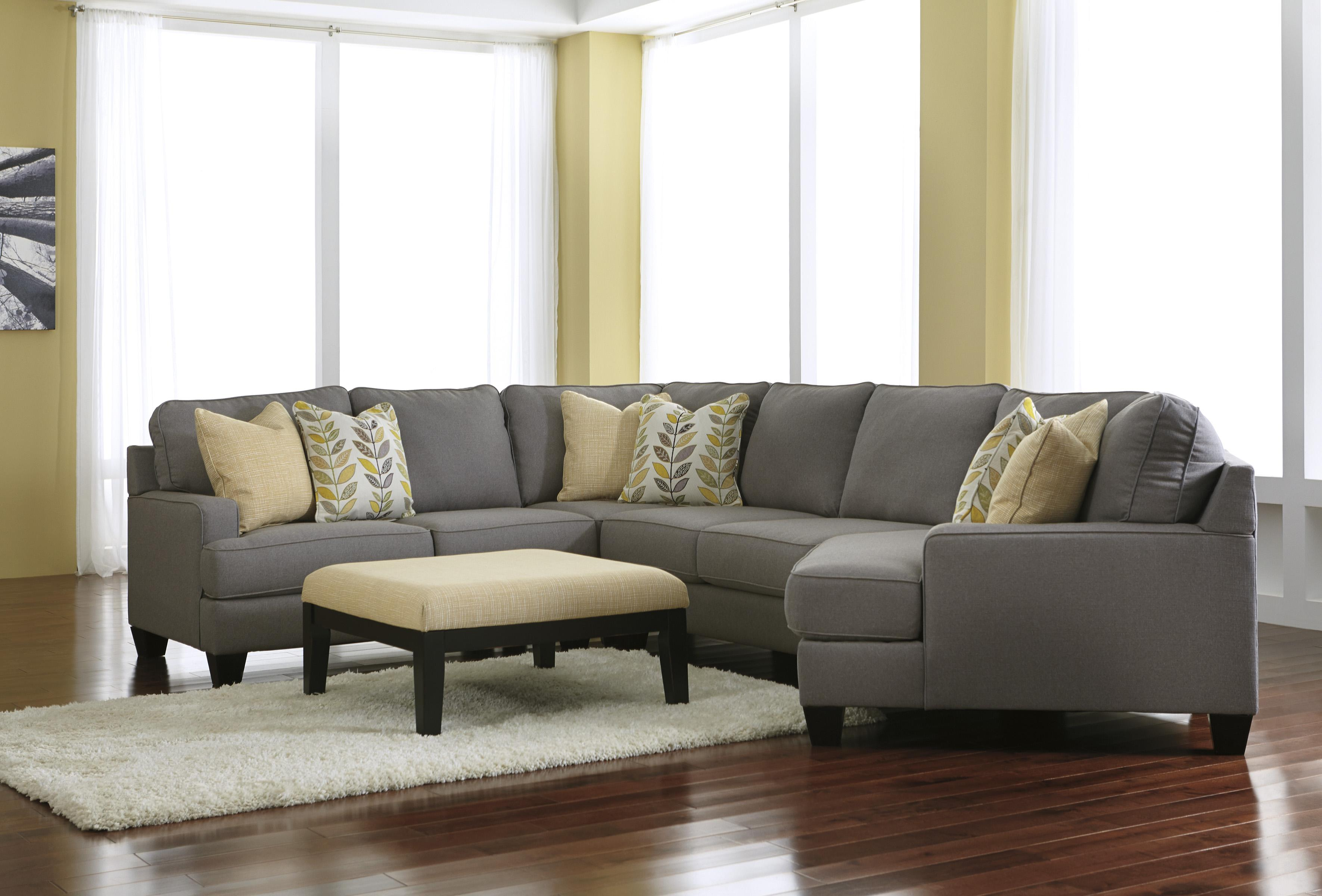 Signature Design by Ashley Chamberly - Alloy Stationary Living Room Group - Item Number: 24302 Living Room Group 13