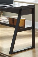 Contemporary Angled Legs and Open Shelf