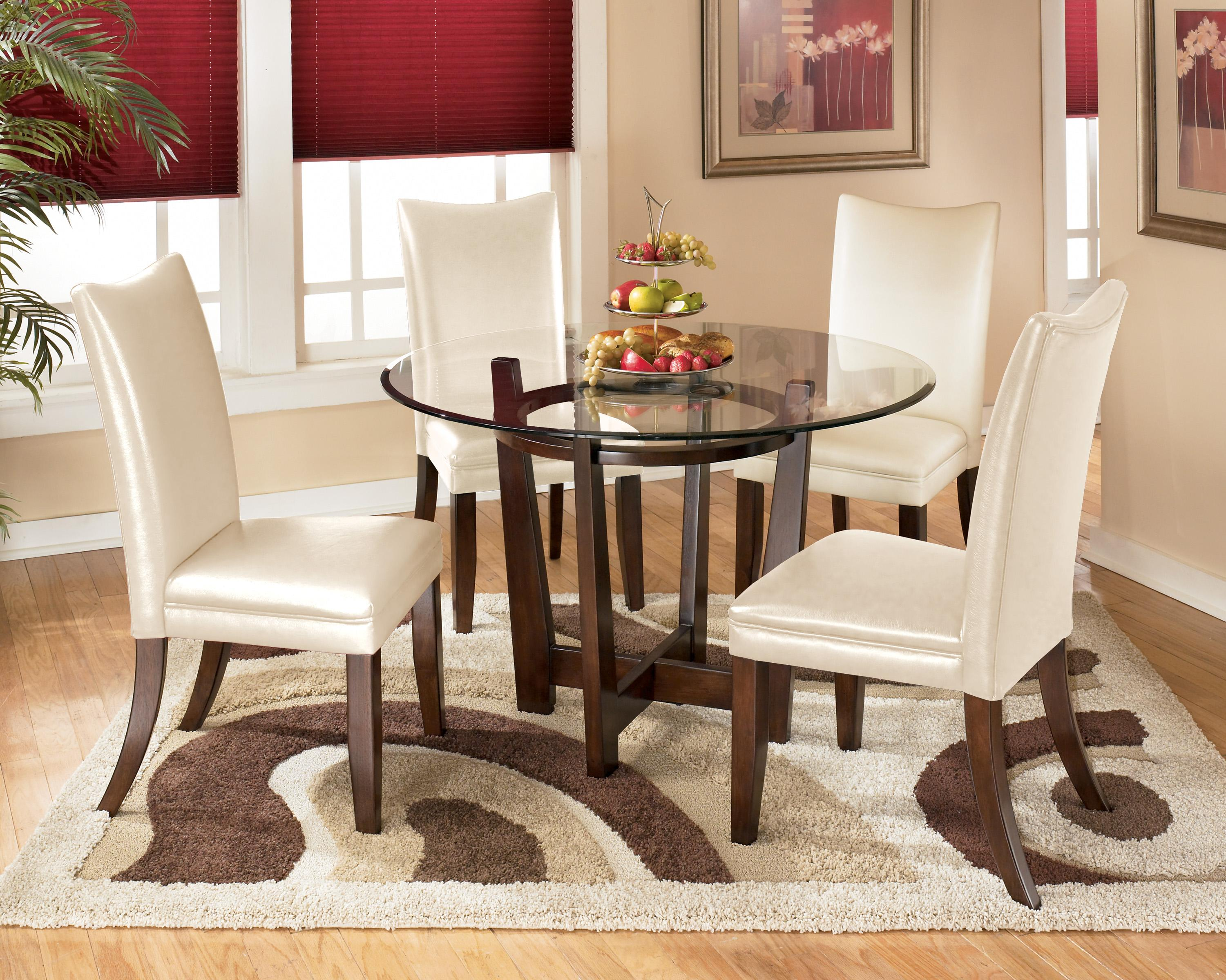 Signature Design by Ashley Charrell 5 Piece Round Dining Table Set ...