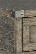 Metal bracket accents with silvertone finish