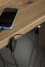 Two USB Chargers Built Into Back of Night Stand