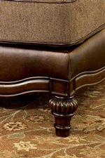 Scalloped Wood Trim with Decoratively Turned Wood Leg