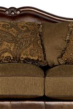 Decorative Loose Back Pillows with Fringe Welts
