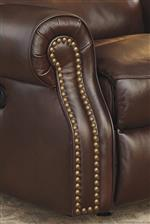 Transitional Set Back Rolled Arms with Nailhead Trim