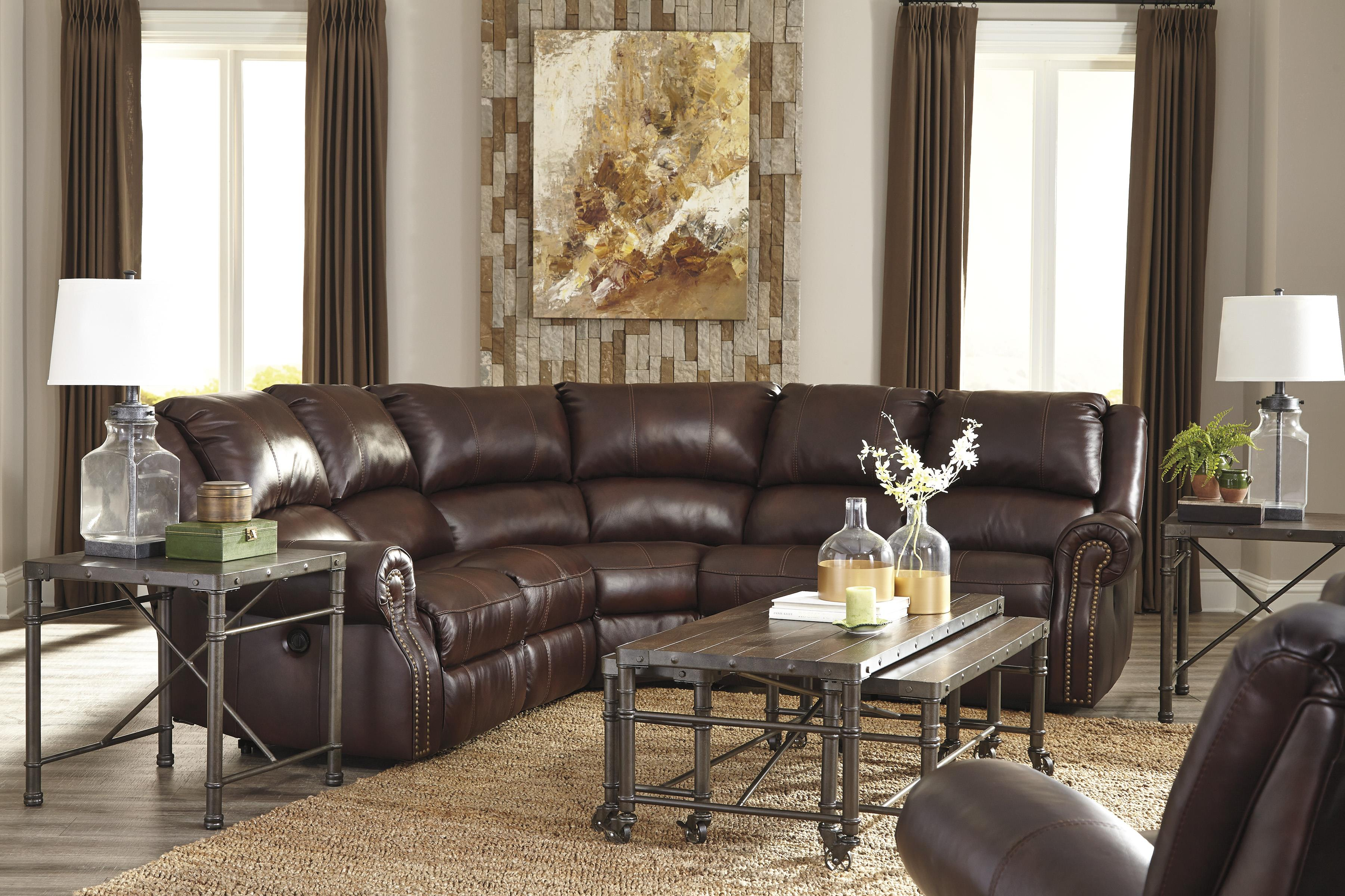 Signature Design by Ashley Collinsville Reclining Living Room Group - Item Number: U72100 Living Room Group 1