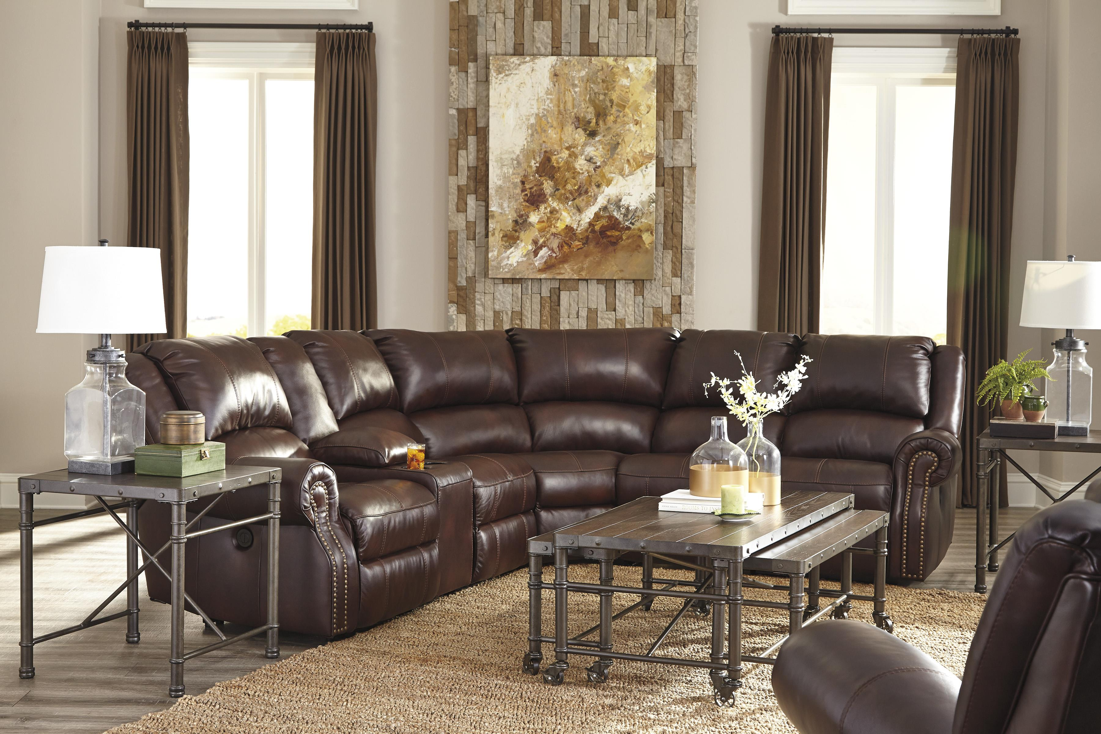 Signature Design by Ashley Collinsville Reclining Living Room Group - Item Number: U72100 Living Room Group 4