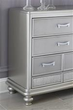 Textured Drawer Fronts and Antiqued Mirror Panels