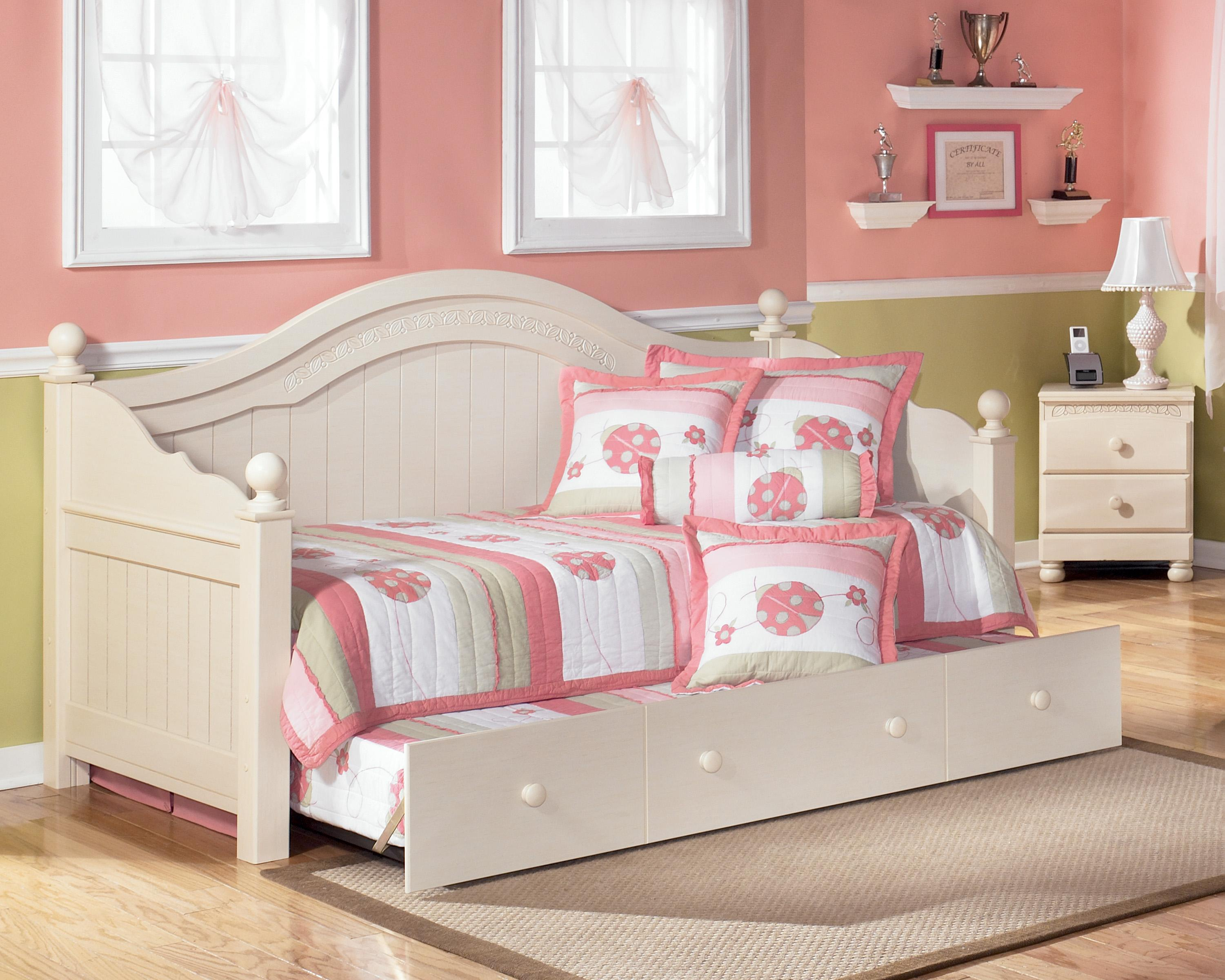 Signature Design By Ashley Cottage Retreat Full Poster Bed With Underbed Storage Wayside Furniture Headboard Footboard