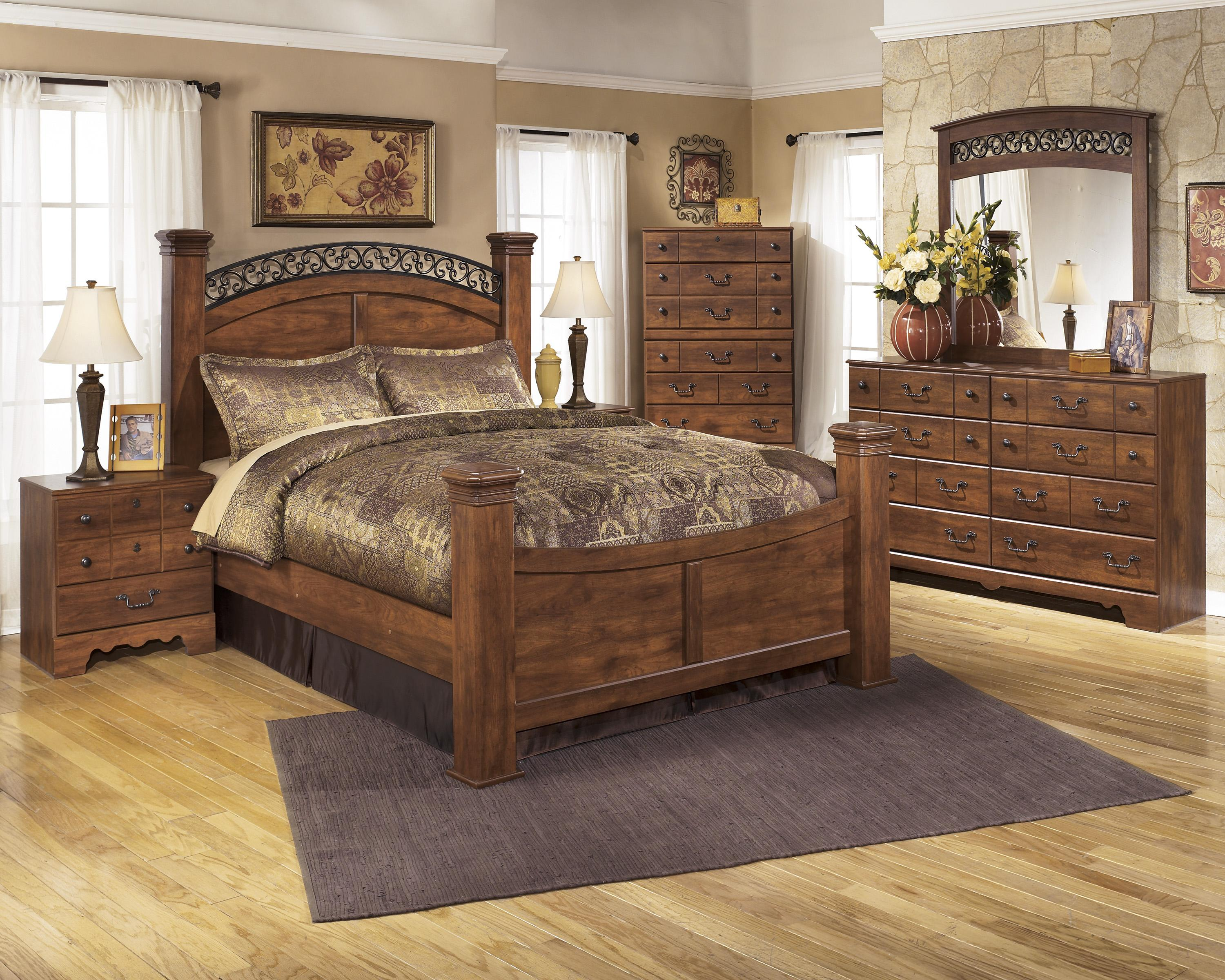 Signature Design By Ashley Timberline Queen Poster Bed Wayside Furniture Panel Beds