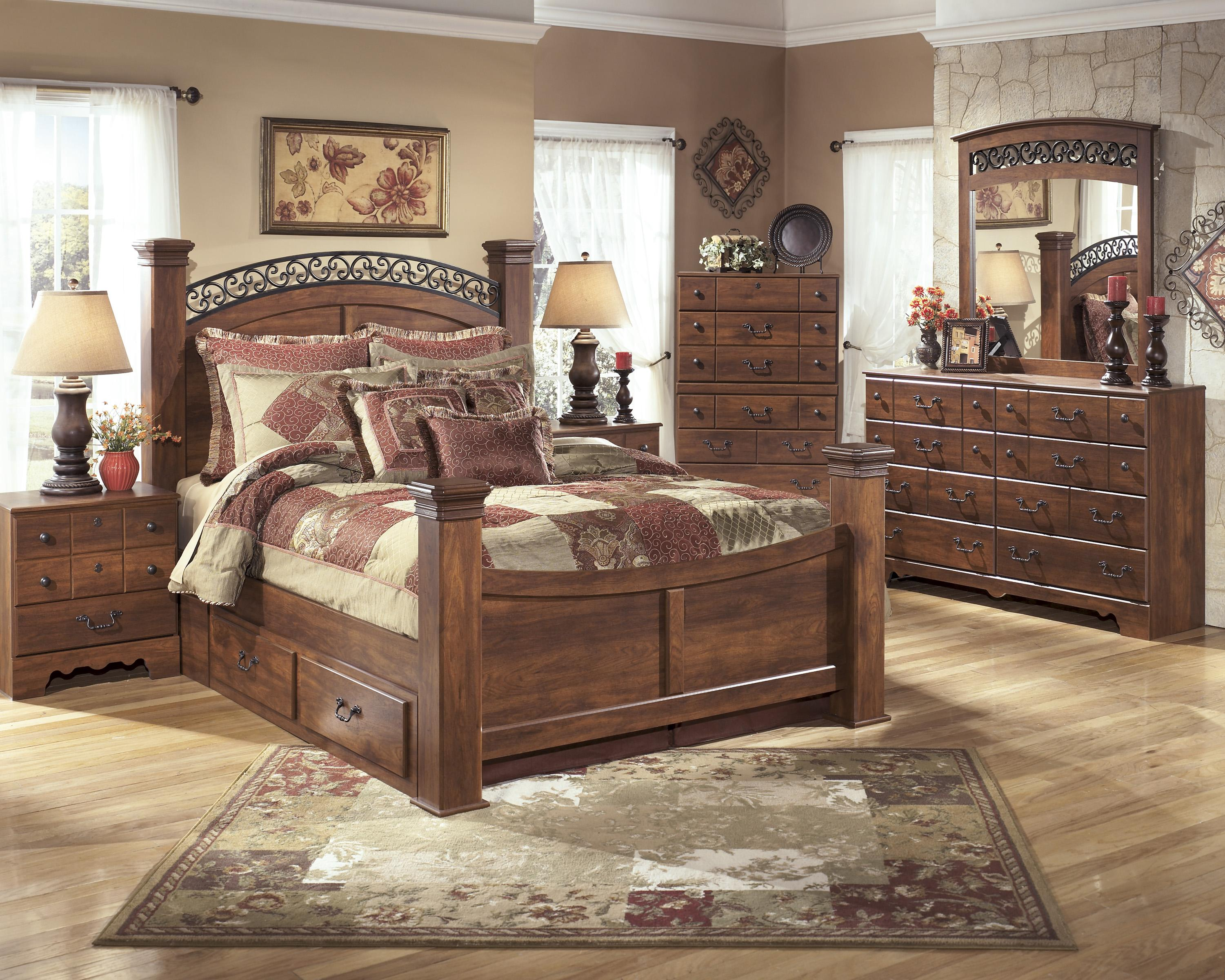 Signature Design by Ashley Timberline Queen Poster Bed | Wayside Furniture | Panel Beds & Signature Design by Ashley Timberline Queen Poster Bed | Wayside ...
