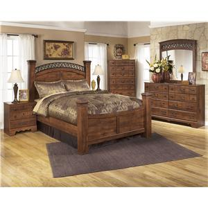 Signature Design by Ashley Timberline Queen Sleigh Bed with Underbed Storage