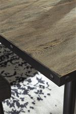Wraparound Metal Banding with Nailhead on Table Edge