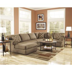 Signature Design by Ashley Cowan - Mocha Casual Oversized Accent Ottoman