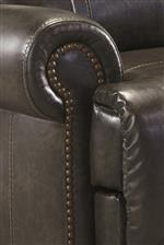Set Back Rolled Arms with Nailhead Trim