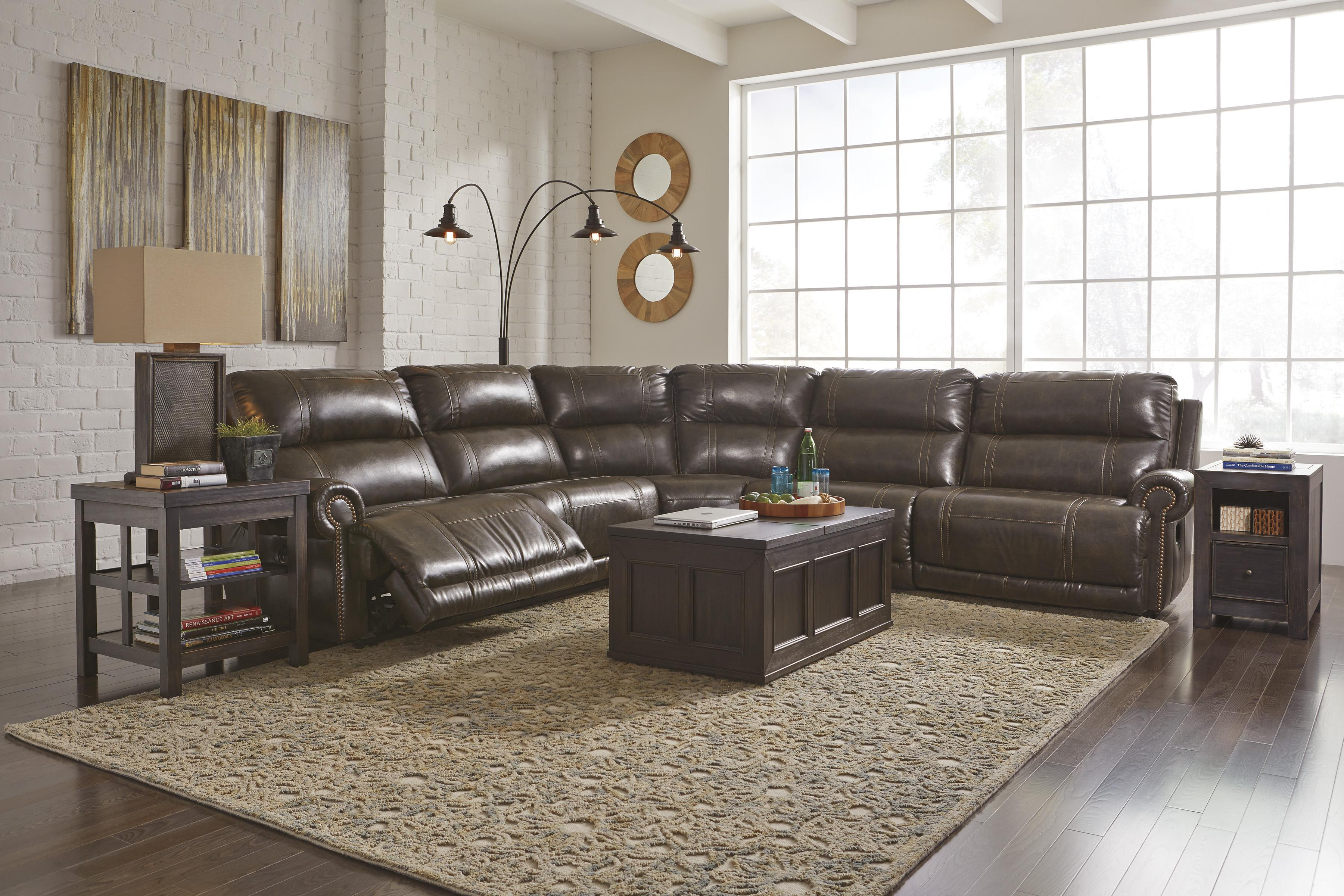 Signature Design by Ashley Dak DuraBlend 6 Piece Power Reclining