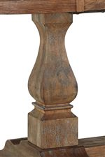 Shaped Pedestal Design for Traditional Touch