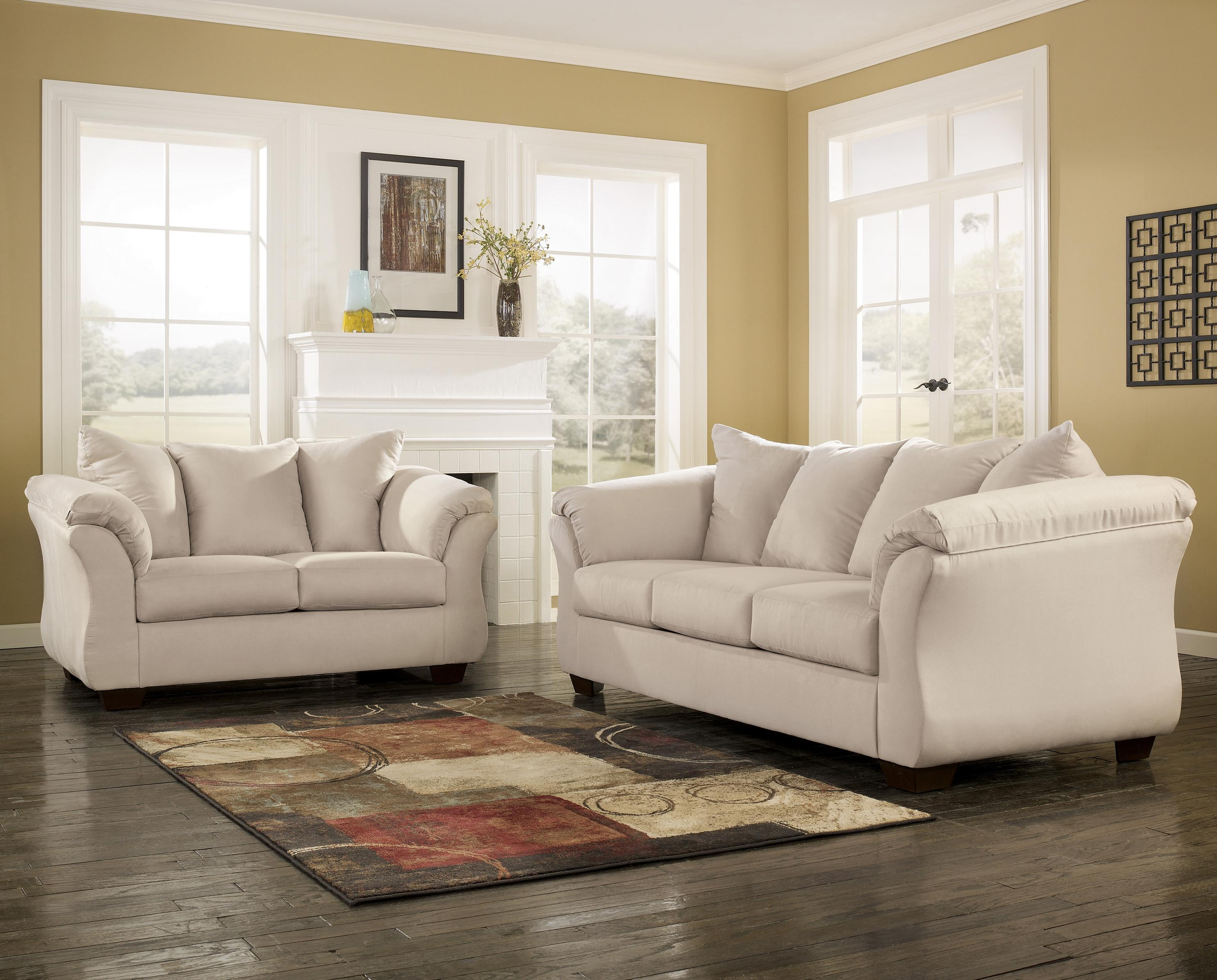 Signature Design by Ashley Darcy - Stone Contemporary Sectional Sofa ...
