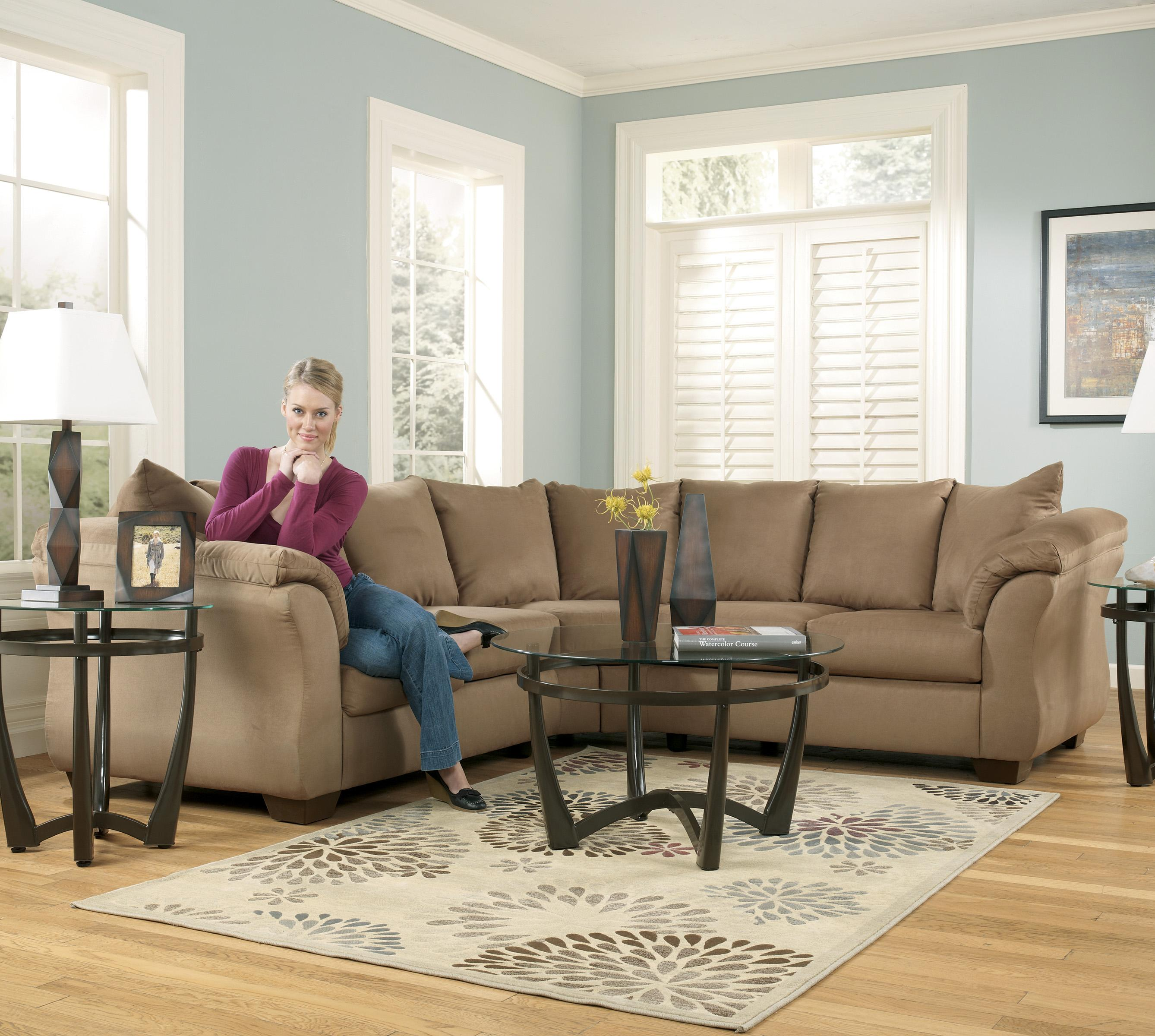 Ashley Furniture Sectional Fabric signature designashley darcy - mocha contemporary sectional