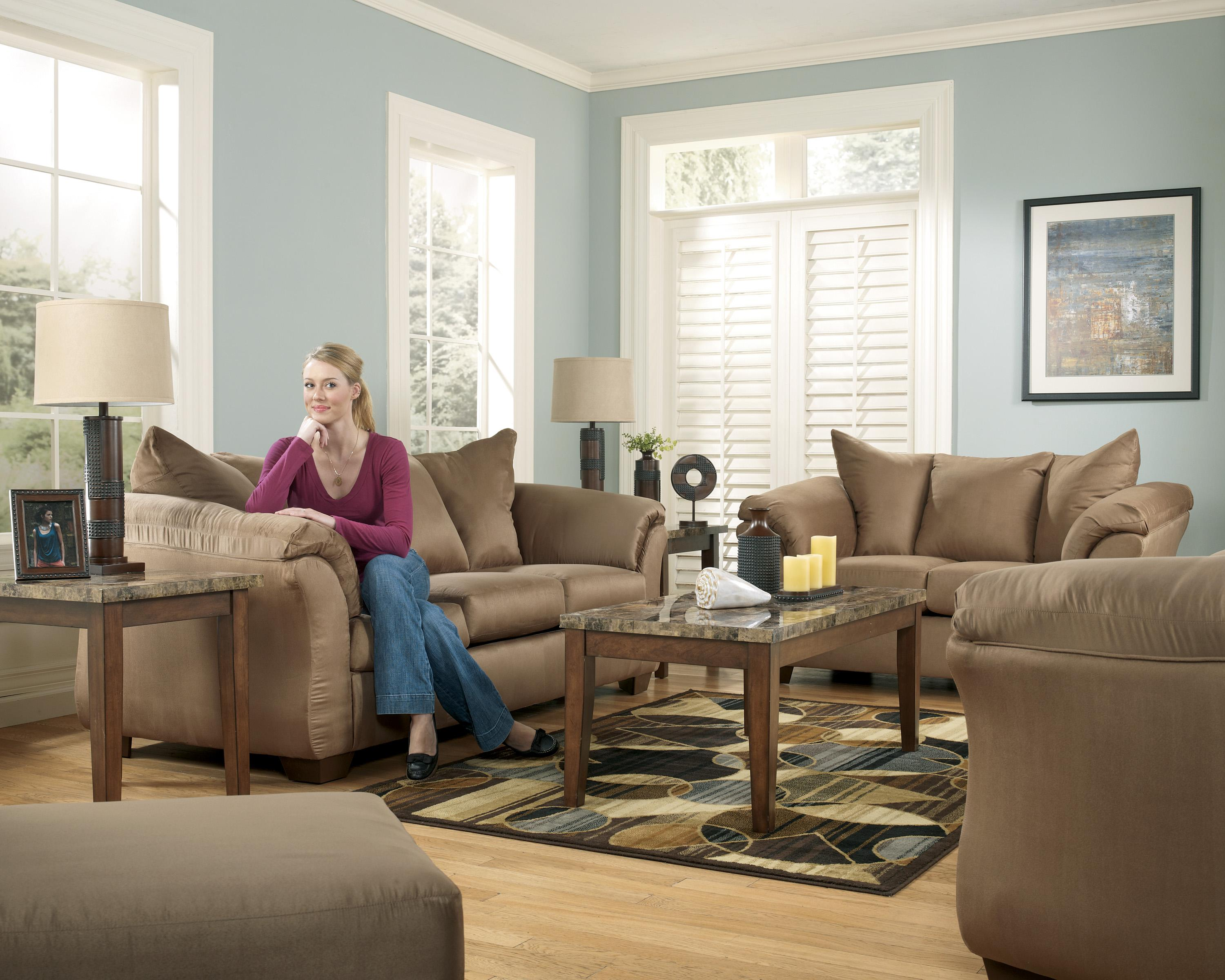 Signature Design by Ashley Darcy - Mocha Contemporary Sectional ...