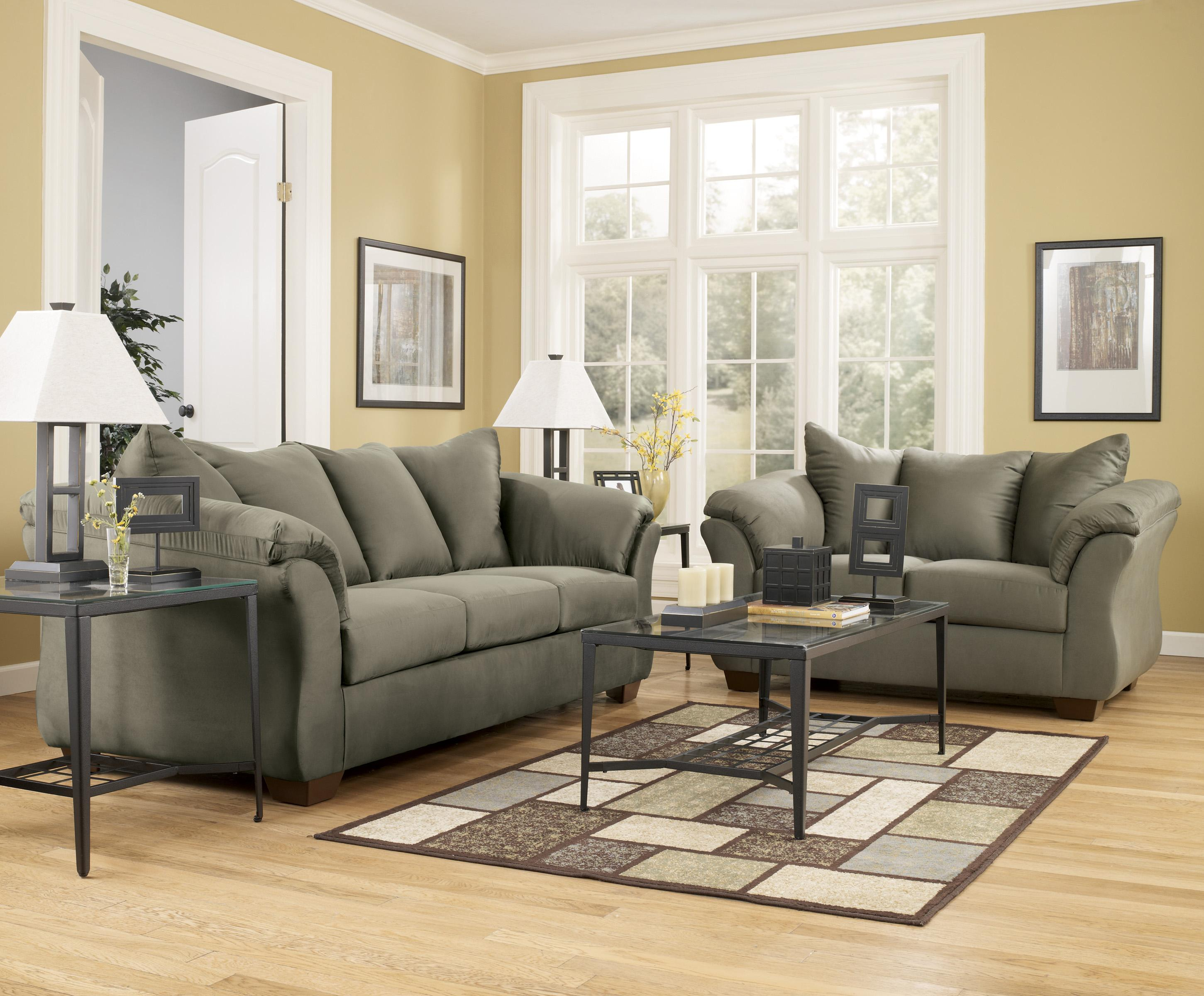 Signature Design By Ashley Darcy Sage Contemporary Sectional Sofa