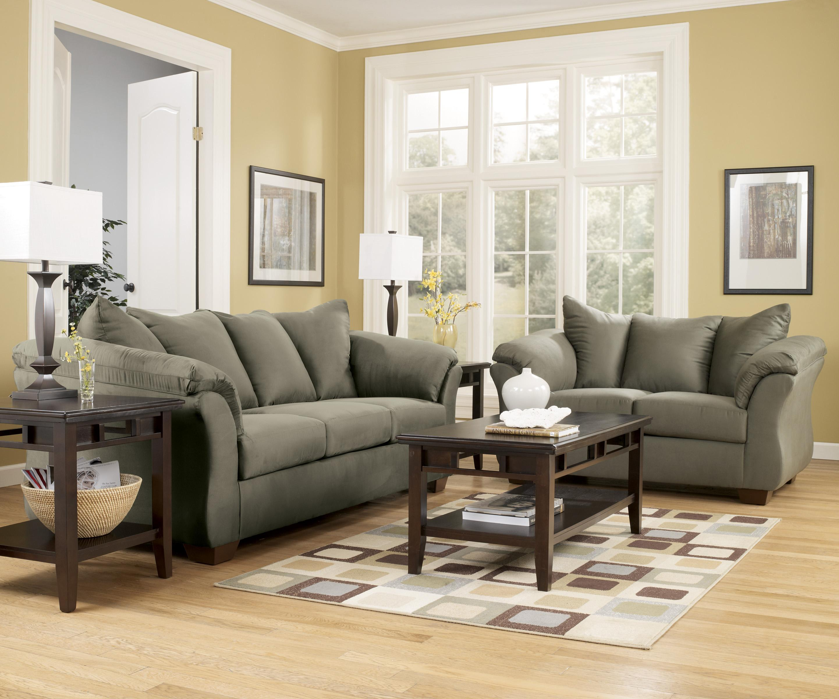 Signature Design By Ashley Darcy   Sage Contemporary Sectional Sofa With  Sweeping Pillow Arms | Wayside Furniture | Sectional Sofas