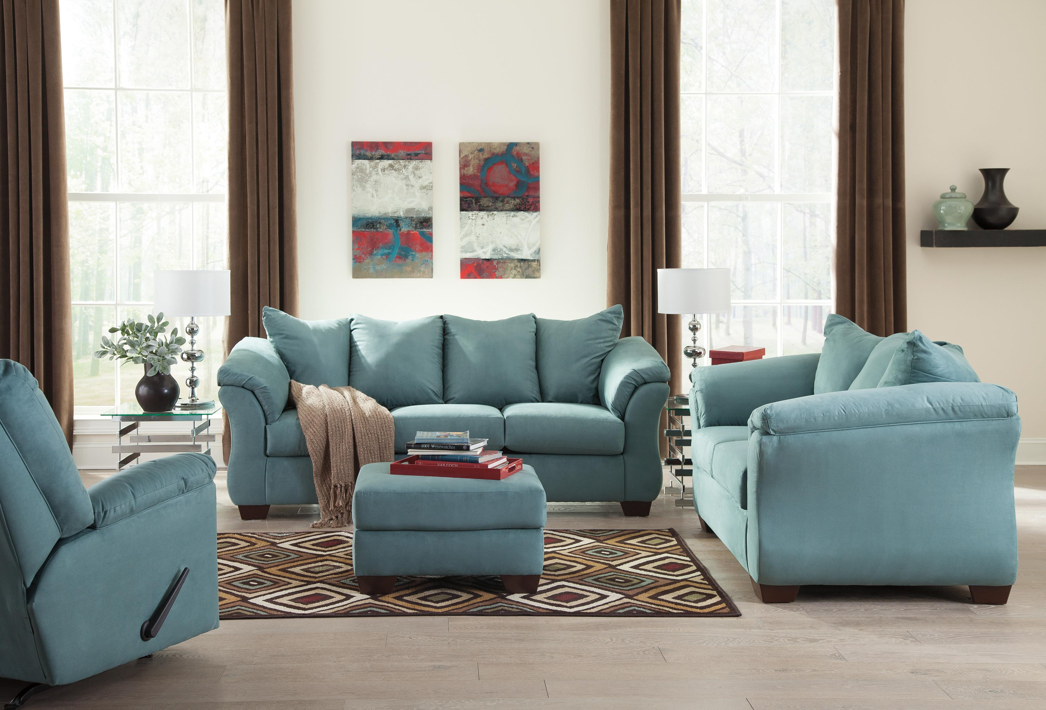 Signature Design by Ashley Darcy Sky Contemporary Sectional Sofa