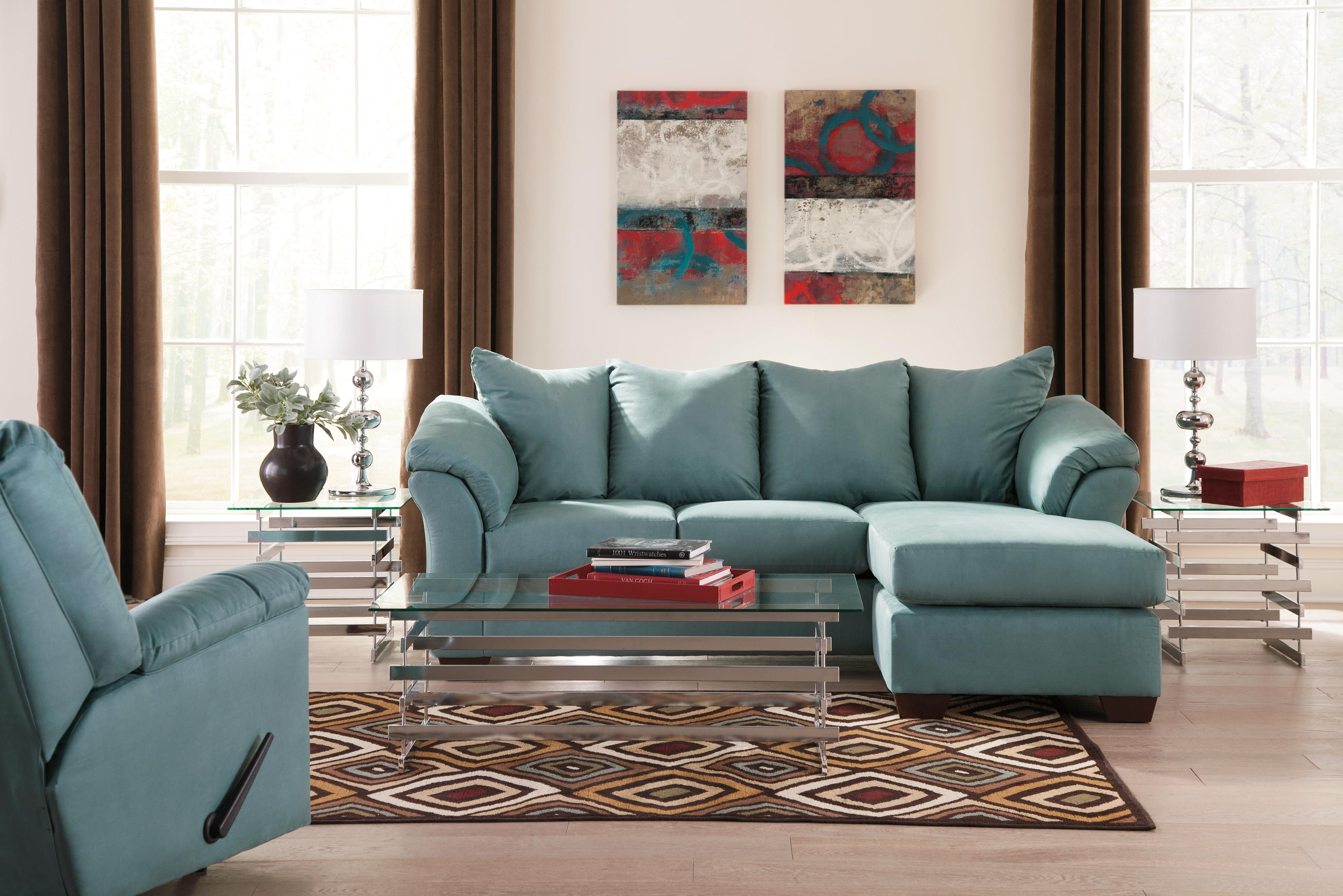 Signature Design by Ashley Darcy Sky Contemporary Sofa Chaise